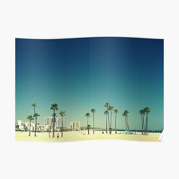 Summer Beach Blue Poster