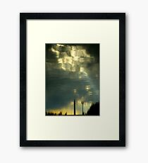 Some Clouds In My Water Framed Print