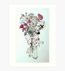 Bouquet of Flowers and Child Art Print