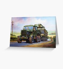 REME Scammell Explorer tank transporter Greeting Card