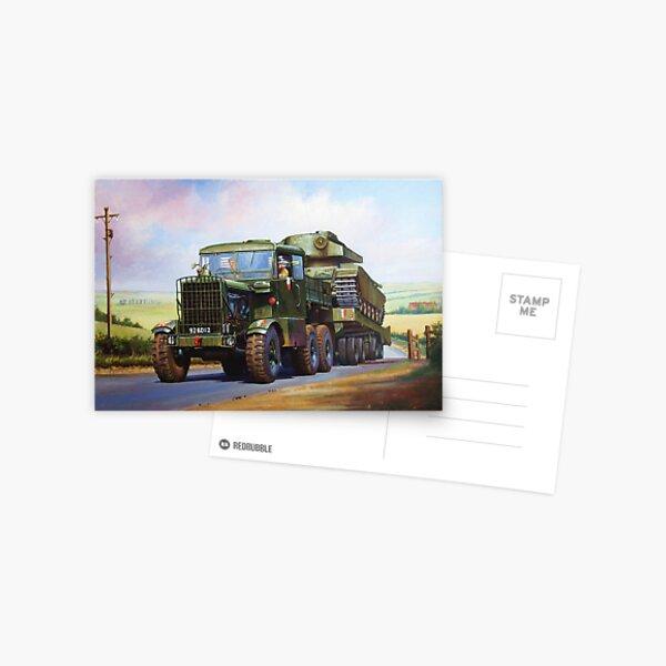 REME Scammell Explorer tank transporter Postcard