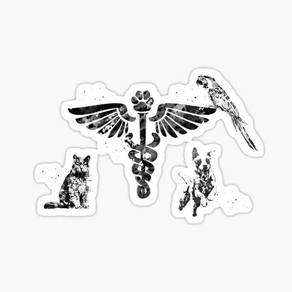 Veterinary Clinic Symbol Sticker
