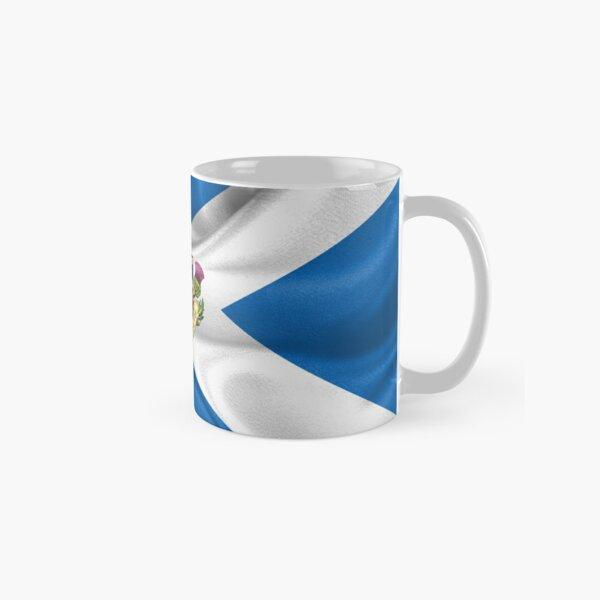 Scotland Forever - Alba Gu Brath - Symbols of Scotland over Flag of Scotland Classic Mug