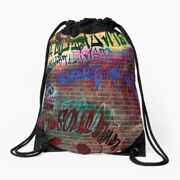 Shadowhunter Graffiti Drawstring Bag