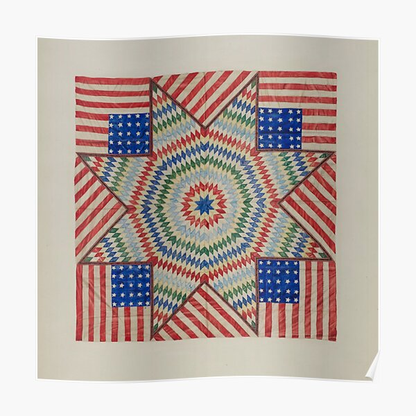Americana Quilt Poster