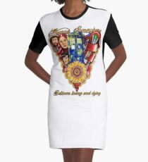 Always Somewhere Between Living and Dying Graphic T-Shirt Dress