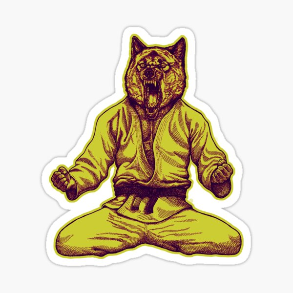 Martial Arts - Way of life #5 - Jiu jitsu Wolf - Competitor  winner Sticker