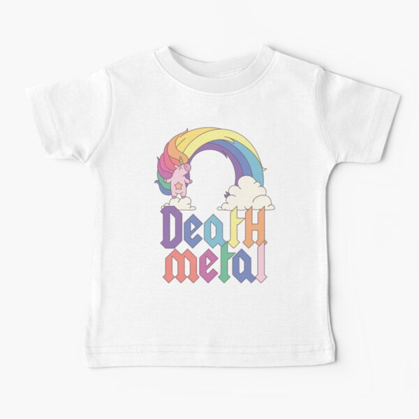 Funny Death Metal Unicorn Cute Rock Music Band Lover Baby T-Shirt