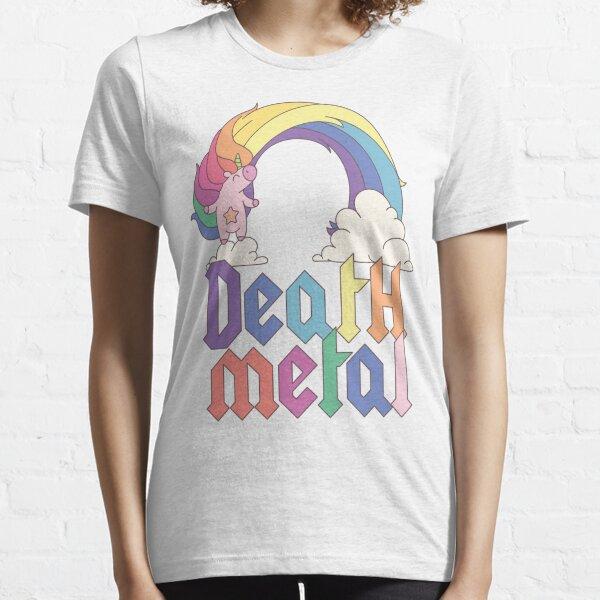 Funny Death Metal Unicorn Cute Rock Music Band Lover Essential T-Shirt