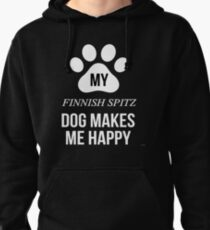 My Finnish Spitz Makes Me Happy - Gift For Finnish Spitz Parent Pullover Hoodie