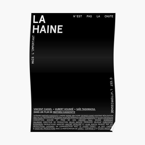 LAM001: La Haine (Negro) Póster