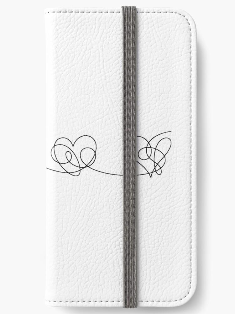 «BTS Love you answer corazones (negro)» de Laurki