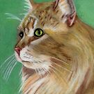 Cat In Pastel by Marcella Babineaux