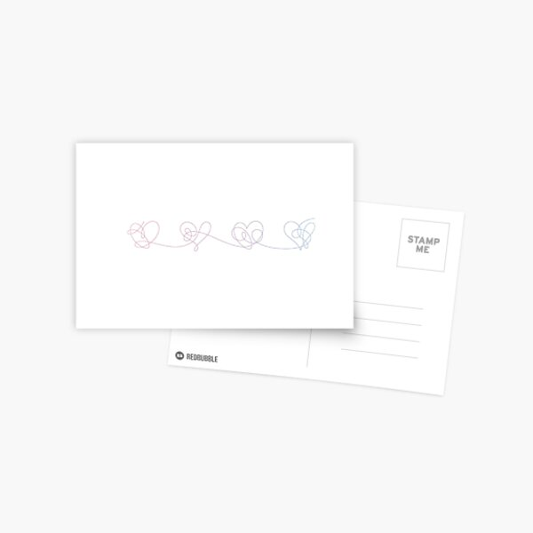 BTS love yourself answer hearts (colour) Postcard