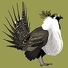Greater Sage-Grouse (support the Bird Conservancy of the Rockies) by BennuBirdy