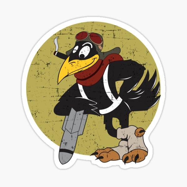 B-52 Old Crow Express Grunge Style Sticker