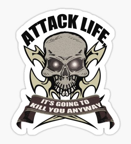 Attack t-shirt Sticker