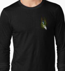 Malibou Lake Egret in Reeds Long Sleeve T-Shirt