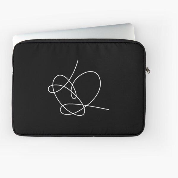 BTS Answer heart love yourself (blanc) Housse d'ordinateur