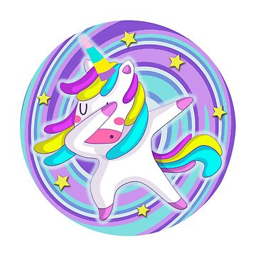 Funny Unicorn Dab Dabbing Lilac  by PopArtDesigns