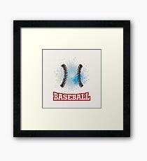 Vector grunge baseball  Framed Print