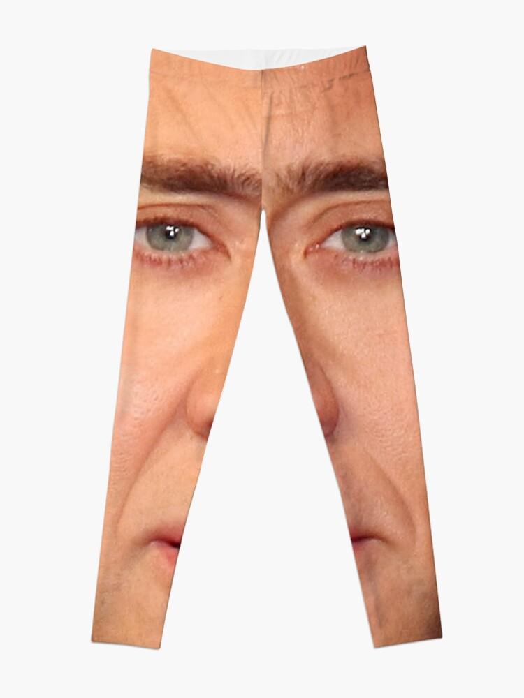 Alternate view of Nicolas Cage's Head Leggings