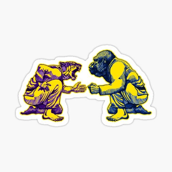Martial Arts - Way of Life #1 - tiger vs gorilla - Jiu jitsu, bjj, judo Sticker