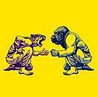 Martial Arts - Way of Life #1 - tiger vs gorilla - Jiu jitsu, bjj, judo by undersideland