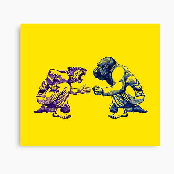 Martial Arts - Way of Life #1 - tiger vs gorilla - Jiu jitsu, bjj, judo Canvas Print