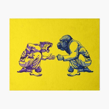 Martial Arts - Way of Life #1 - tiger vs gorilla - Jiu jitsu, bjj, judo Art Board Print