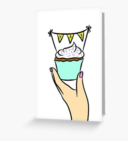 Yay Cupcake  Greeting Card