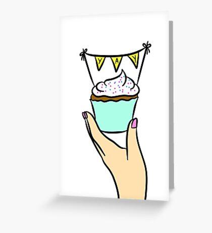 Yay Cupcake  Greeting Card
