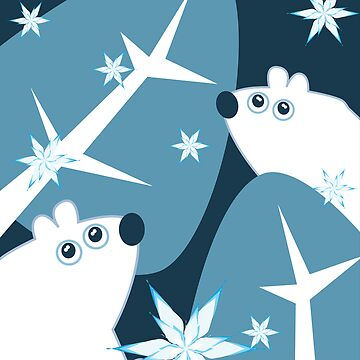 Christmas polar bears by emmahildreth
