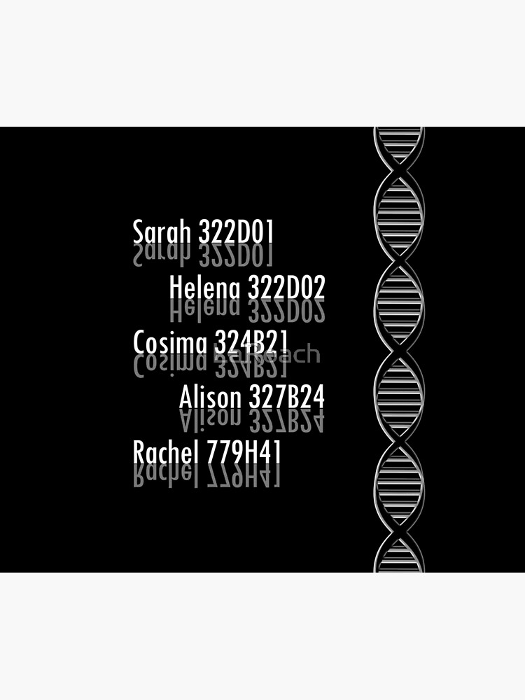 Orphan Black Clone Tag Numbers by LaRoach