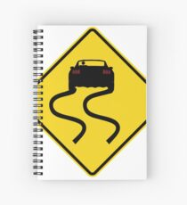 s550 Mustang Hazard sign Spiral Notebook