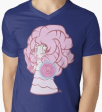 Weeny Gems- Rose Quartz Men's V-Neck T-Shirt