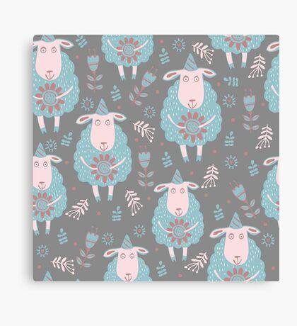 Cute moutons Canvas Print