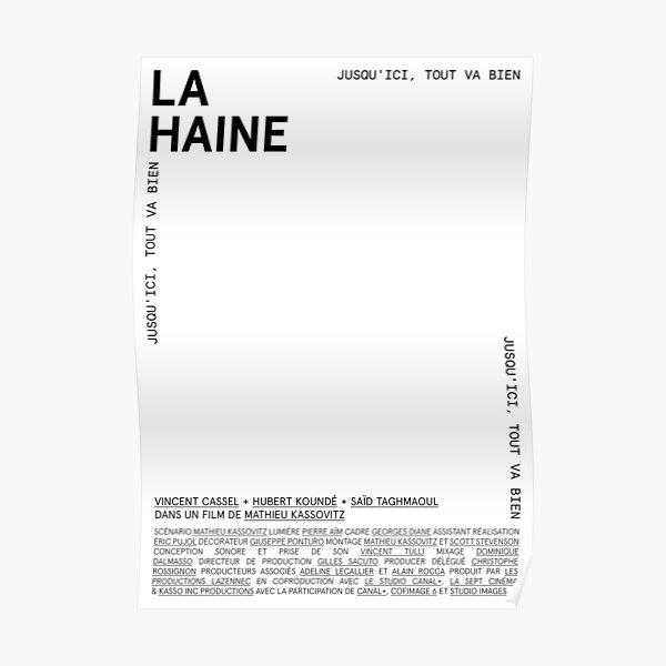 LAM001: La Haine (Blanco) Póster