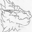 Alien Wolf Sketch by GD-Kitkat
