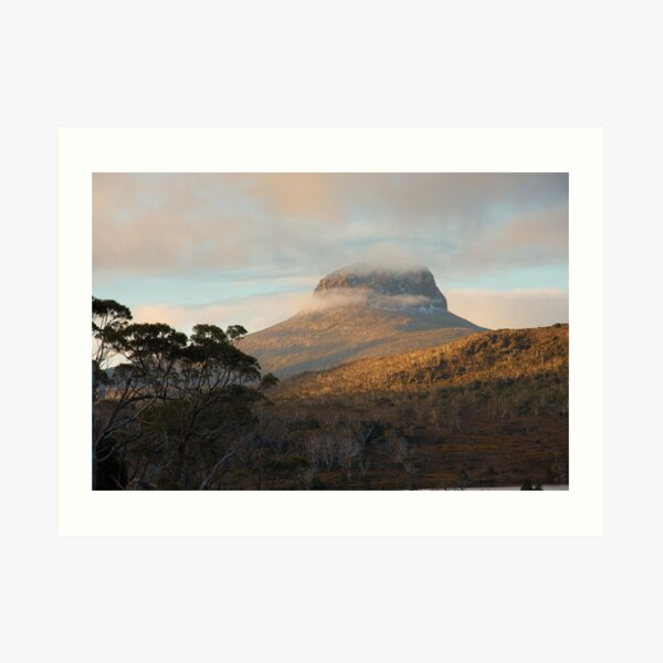 Barn Bluff, from Lake Windermere, Overland Track, Tasmania Art Print
