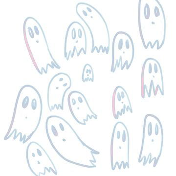 Cute Ghosts Doodle by MandiKing