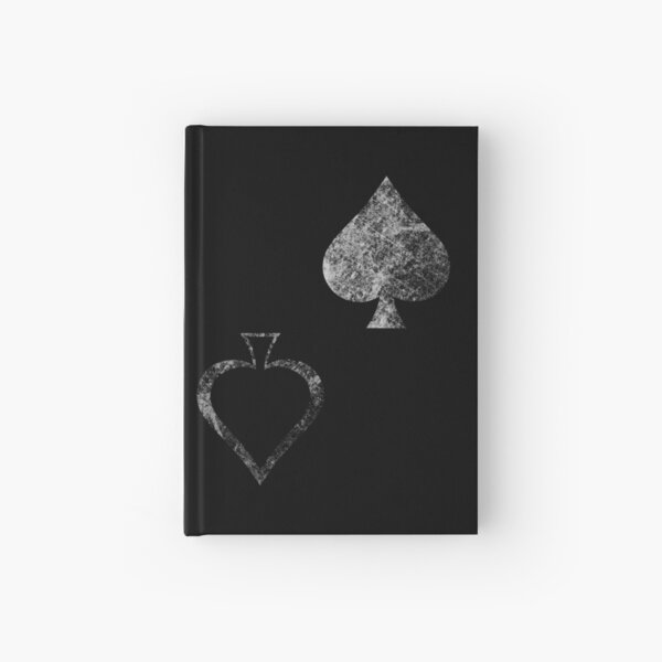 Caydes Spades Faded Hardcover Journal