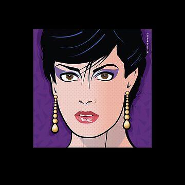 Pop Art Illustration of Beautiful Woman Sonja Pop Art Girl by azoid