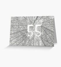 55 Birthday Pattern Greeting Card