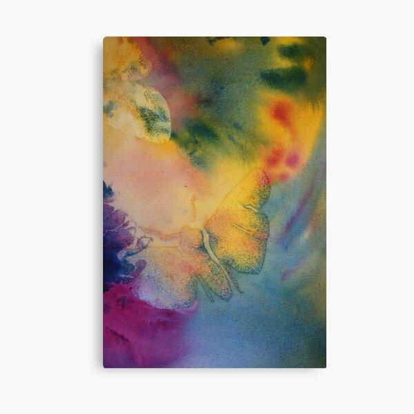 Watercolour: Moth in Watercolour Canvas Print