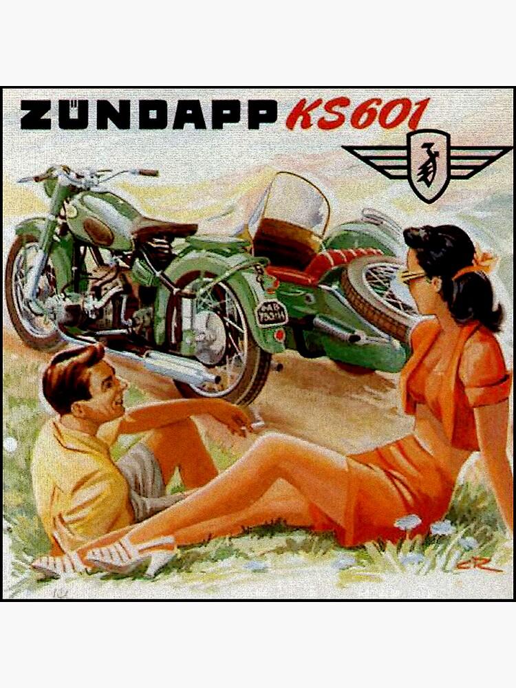 Vintage German KS601 Motorcycle Advertisement by edsimoneit
