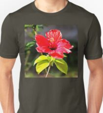 Beautiful Red Tropical Hibiscus Flower Unisex T-Shirt