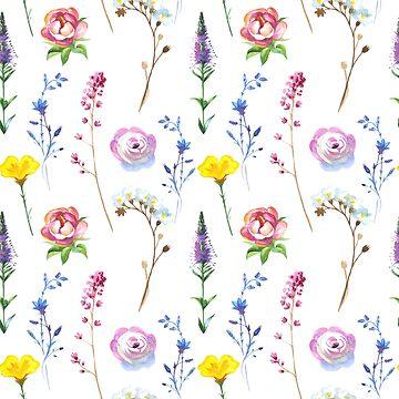 Romantic Cute Floral Pattern by cutecutedesigns