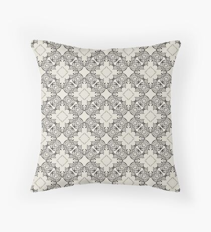 Old Black Lace  Throw Pillow