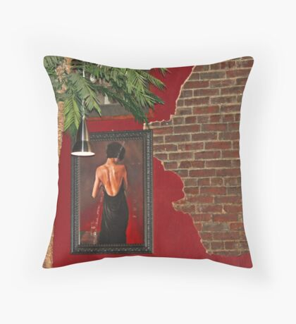restaurant wall Throw Pillow